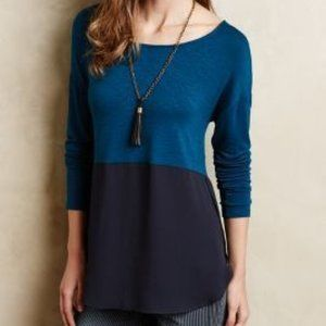 MEADOW RUE | sz L teal Mela tunic